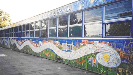 Thames mural used to be in Ben Johnson Road in Stepney