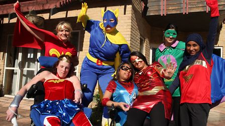 Youngsters and staff of Richard House Children's Hospice get dressed up like their favourite superhe