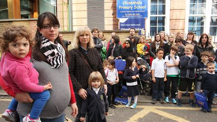 Parents and children at Chisenhale Primary School are furious at the council admission policies and
