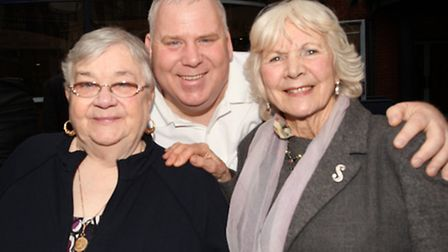 One of John Onslow's proud sons, Kevin, with widow Eileen [left] and sister Sheila Willis