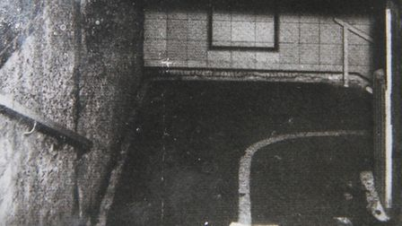 1943... stairs leading down to air-raid shelter where 173 people died