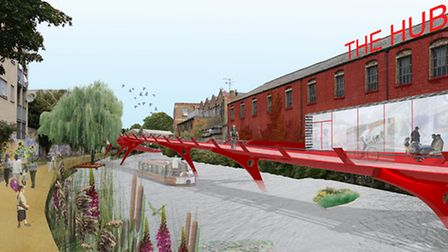 A draft plan for the cycleway along the Regent's Canal