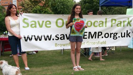Campaigners' community day at Shadwell's King Edward Park in 2012