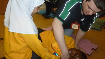 Youngsters recieve first aid training as part of a project which has seen more than 1,000 young peop
