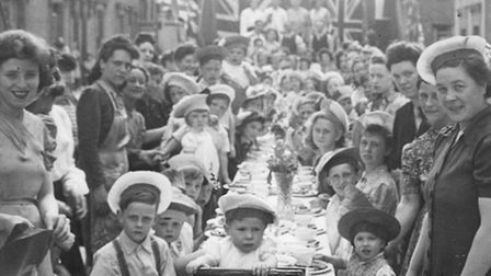How it all started... traditional post-war East End street party in the 1940s and 50s