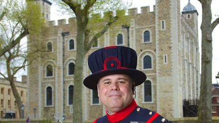 Matthew Pryme, the newest addition to the Tower of London's team of Yeoman Warders