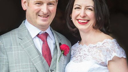 Gary and Louise Lidington married at Wilton's Music Hall last weekend. Credit: Dominic Whiten