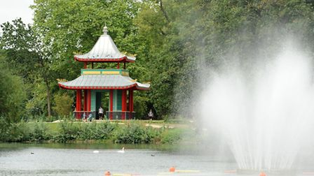 The Chinese Pagoda in Victoria Park