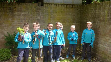 The Beaver Scouts help transform wasteground