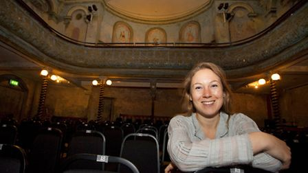 Managing director Frances Mayhew at the Wilton's Music Hall auditorium.