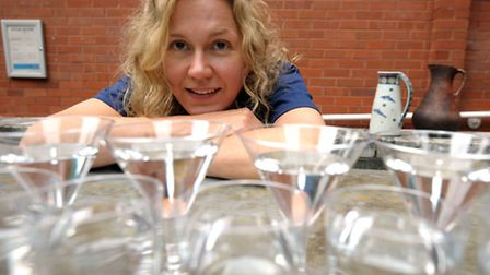 Artist Amy Sharrocks and her water bar at Two Degrees Fest