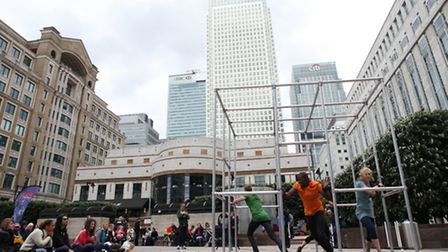 """Dancing City arrives at Canary Wharf with """"Captive"""" a performance inspired by Rainer Maria Rilke's p"""