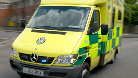 A pensioner was taken to hospital after a fatal collision
