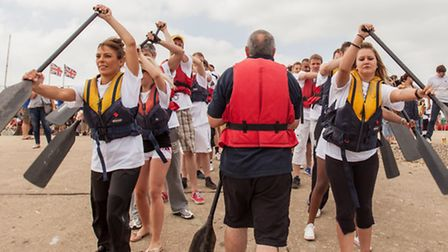 The Felicity J Lord team at the Dragon boat race
