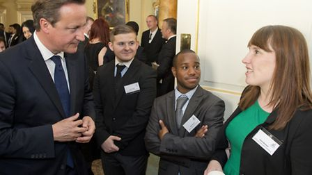 Meeting Cameron at Downing Street... the civic leaders of tomorrow