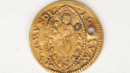Gold coin pendant found at Liverpool St Crossrail site