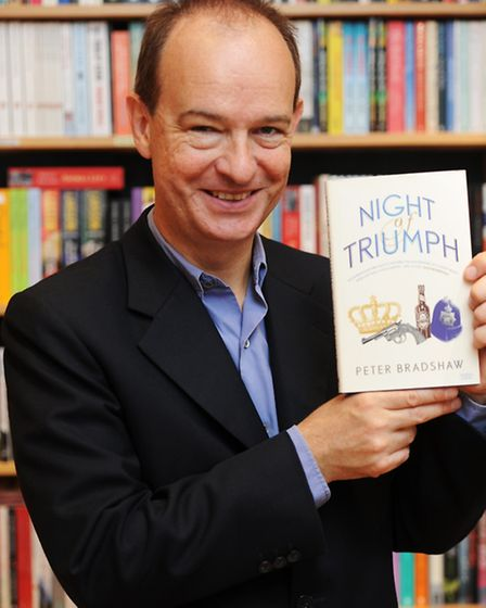 Peter Bradshaw with his novel 'Night of Triumph'