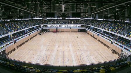 Inside the Copper Box at the Olympic Park