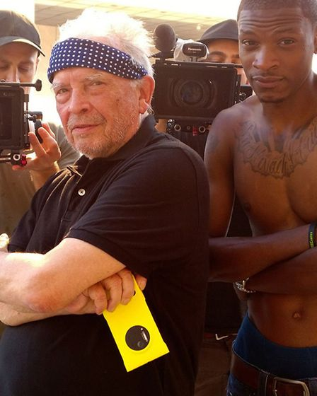 Behind the scenes image of David Bailey in Harlem; New York.