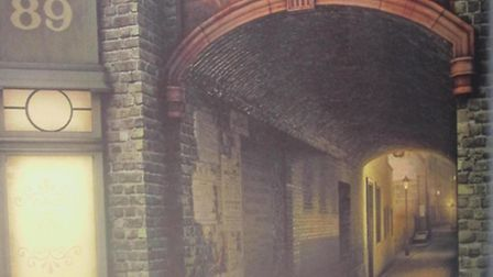 Entrance to George-yard, off Whitechapel High-st, as it would have been in 1888 when Martha Tabram w