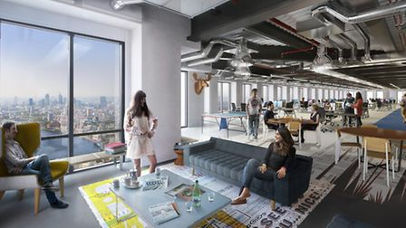 Artist impression... Level39 when it first opened at Canary Wharf