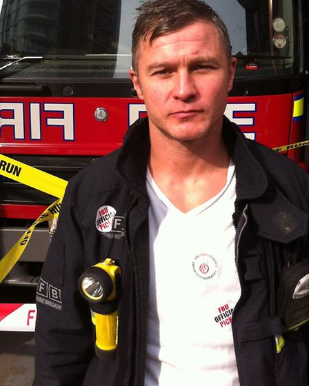 Whitechapel fire station crew manager Damian Magee