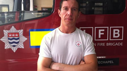 Whitechapel fire station crew manager Carl Magnus