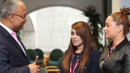 One Housing Group apprentices meet the Mayor Lutfur Rahman at the Town Hall.
