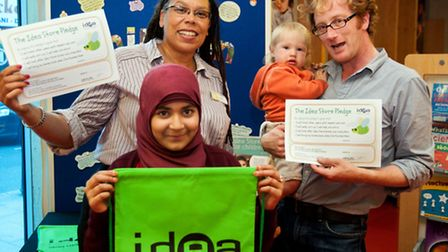 Judith St John, head of Idea Stores at the launch in Idea Store Whitechapel with customers