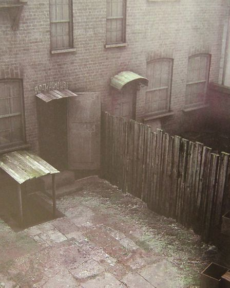 Backyard at 29, Hanbury-st, where Annie Chapman is found murdered and mutilated on September 8, 1888