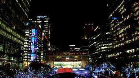 Ice rink at Canary Wharf