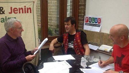 Guy Shennan is questioned during his 12 hour 'quiz-a-thon'
