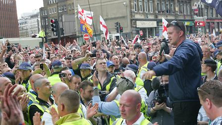 EDL March from Tower Bridge towards Aldgate