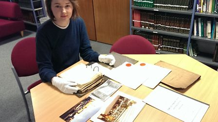 Archivist Ellis McCarthy gets to grips with some of the material which needs sorting