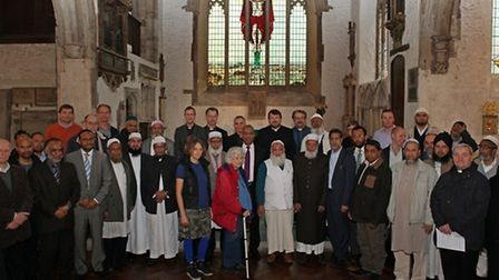 Faith leaders at the launch of the second round of funding at St Dunstan's Church