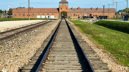 The train tracks that took Jews into the heart of the Birkenau death camp