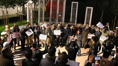Bangladesh protesters welcome conviction of Chowdhury Mueen Uddin in Altab Ali Park