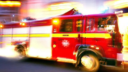 Firefighters were called to the scene in Hedgemans Road, Dagenham