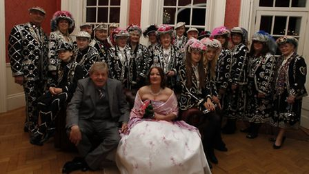 Lorraine and Terry had the first pearly wedding in London for 30 years. Pearly Kings, Queens, Princ