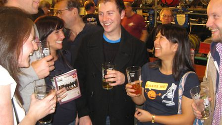 Real Ale lovers at a previous Pig's Ear Fest