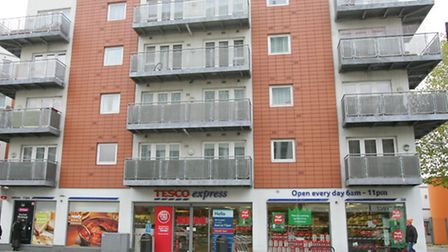 The flats in Commercial road today