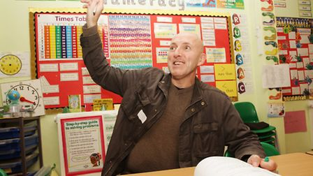 Comedian Lee Hurst comes back to his former class at Stebon Primary School in a 45-year school reuni