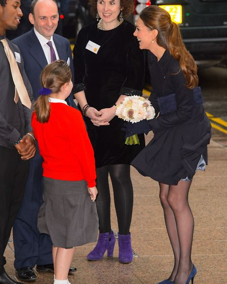 The wind was a problem for the Duchess of Cambridge