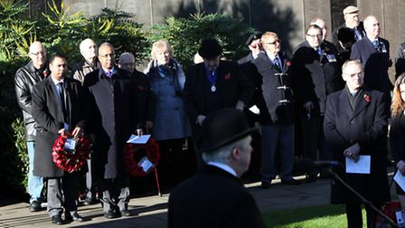 The Mayor stood to the side of the service with Cllr Kabir Ahmed