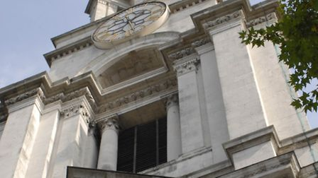 Hawksmoor's baroque tower of St Anne's Limehouse