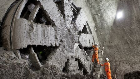 Major tunnelling on Crossrail is expected to be completed by the end of 2014