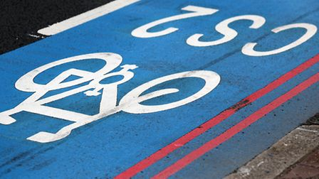 Many believe the blue paint along the CS2 cycle superhighway gives cyclists a false sense of securit