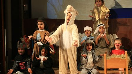 Nothing sheepish about these youngsters performing in the Nativity at Cyril Jackson Primary in Limeh