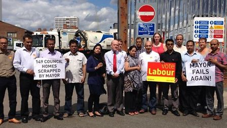 Labour councillors demonstrated against the scrapping of the Watts Grove scheme in October