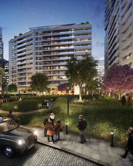 Wood Wharf's proposed Riveraide Gardens
